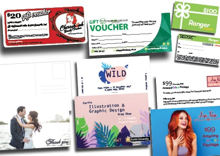 Postcards and Gift Vouchers