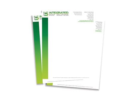Integrated Portfolio Solutions Letterhead Design - A Team Printing Perth digital print services printing services Perth printing Perth