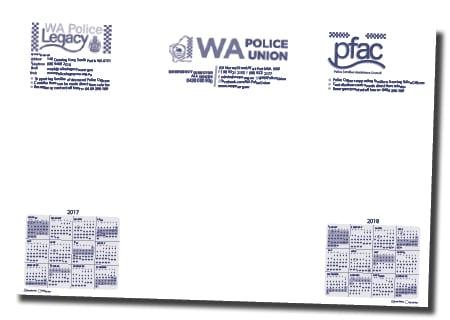 WA Police Union Calendar Design - A Team Printing Perth digital print services printing services Perth printing Perth printing companies Perth commercial printers high quality printing