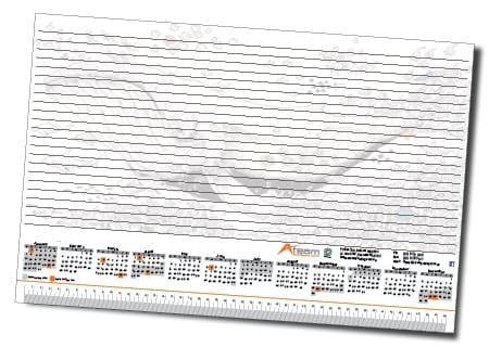 Calendar Design - A Team Printing Perth Stationary Printing