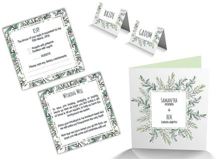Wedding Invitation Card Design - A Team Printing Perth Cheap Wedding Invitations