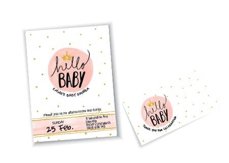 Baby Shower Invitation Card Design - A Team Printing Perth digital print services printing services Perth printing Perth printing companies Perth