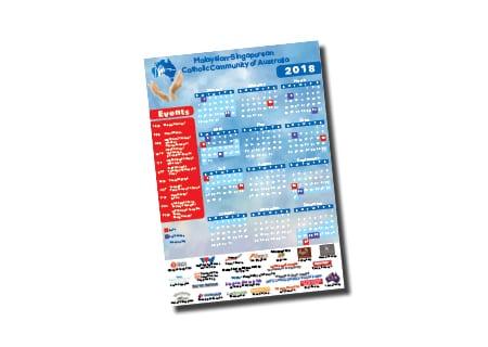 Malaysian Singaporean Catholic Community of Australia Calendar Design - A Team Printing Perth digital print services printing services Perth printing Perth