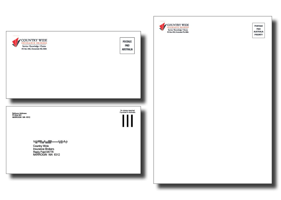 Country Wide Insurance Brokers Letter Design - A Team Printing Perth printing services Perth printing Perth printing companies Perth commercial printers high quality printing corporate printers